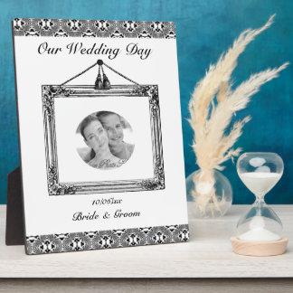 Mosaic pattern (Black) (Wedding) Plaque