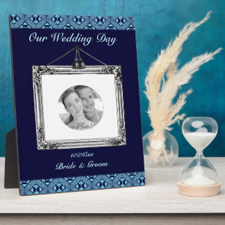 Mosaic pattern (Blue) (Wedding) Plaque