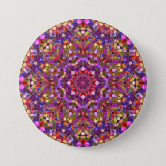 Mosaic Pattern Button s, square or round