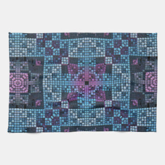 Mosaic Pattern Hand Towels
