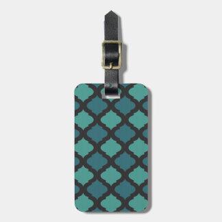 Mosaic pattern in arab style luggage tag