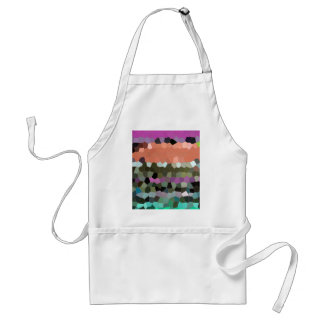 Mosaic Pattern in assorted colours Postage Adult Apron