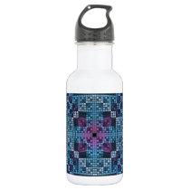 Mosaic Pattern Stainless Steel Water Bottle