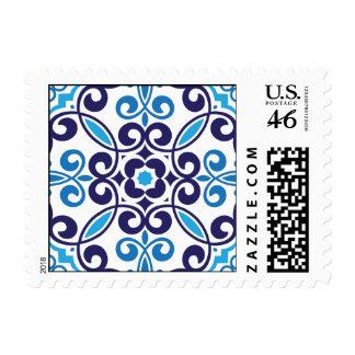 Mosaic Pattern Stamp - Blue