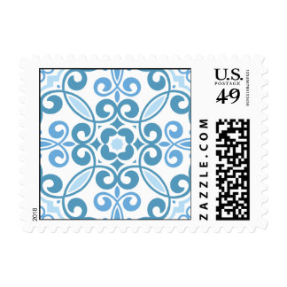 Mosaic Pattern Stamp - Light Blue