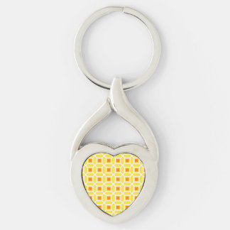 Mosaic Pattern Yellow and Orange Keychain