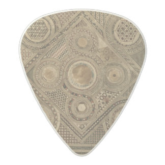 Mosaic Pavement Before the Altar, plate A from 'We Acetal Guitar Pick