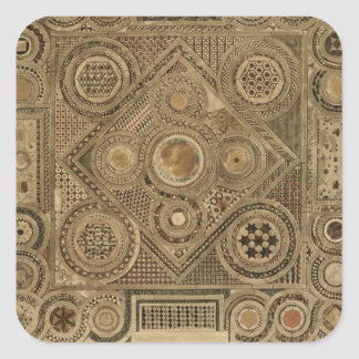 Mosaic Pavement Before the Altar, plate A from 'We Square Sticker