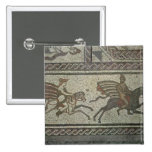Mosaic pavement from the Roman villa at Low 2 Inch Square Button
