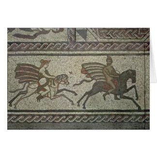 Mosaic pavement from the Roman villa at Low Card
