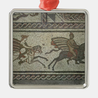 Mosaic pavement from the Roman villa at Low Metal Ornament
