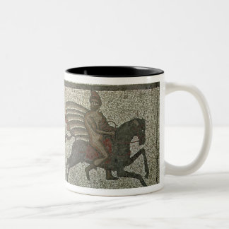 Mosaic pavement from the Roman villa at Low Two-Tone Coffee Mug