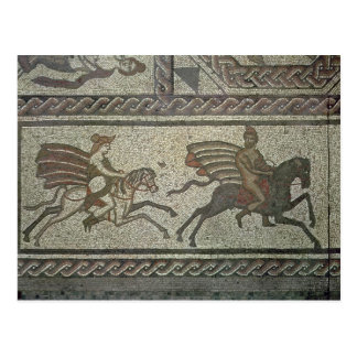 Mosaic pavement from the Roman villa at Low Postcard