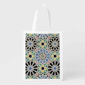 Mosaic Pavement in the Alhambra, from 'The Arabian Reusable Grocery Bag