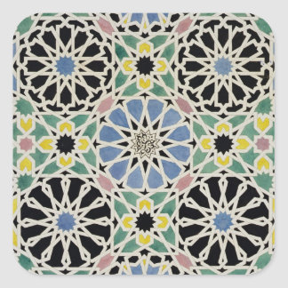 Mosaic Pavement in the Alhambra, from 'The Arabian Square Sticker