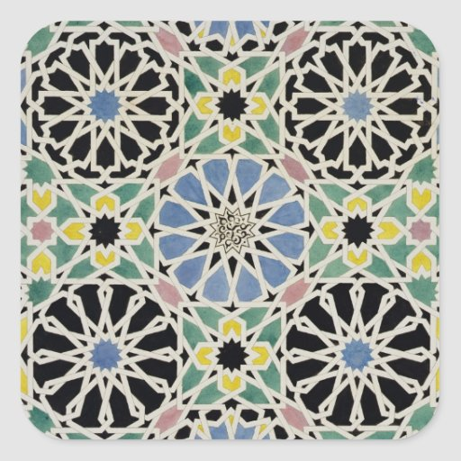 Mosaic Pavement in the Alhambra, from 'The Arabian Stickers