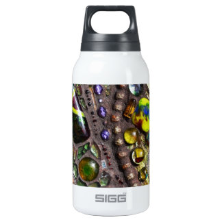 Mosaic Peacock Feather Insulated Water Bottle