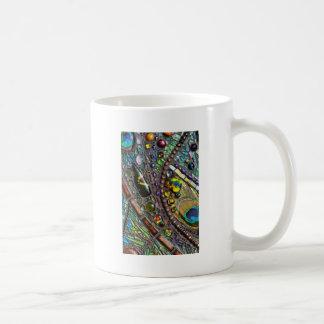 Mosaic Peacock Feather Mug