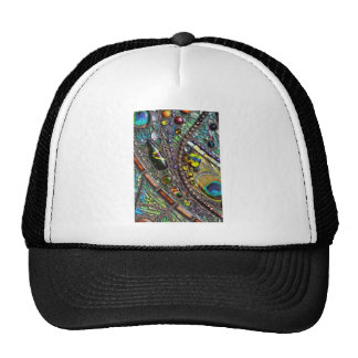 Mosaic Peacock Feather Trucker Hat