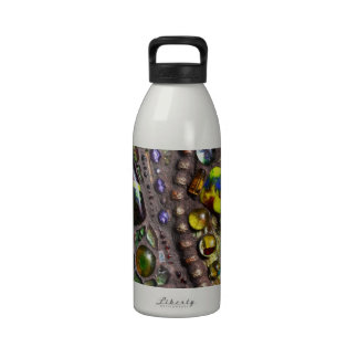 Mosaic Peacock Feather Water Bottle