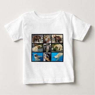 Mosaic photos of bears baby T-Shirt