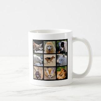 Mosaic photos of Canidae Classic White Coffee Mug