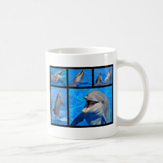 Mosaic photos of dolphins coffee mug