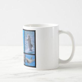 Mosaic photos of dolphins coffee mug