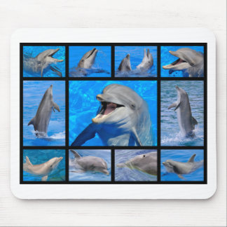 Mosaic photos of dolphins mouse pad