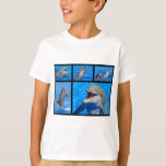 Mosaic photos of dolphins T-Shirt