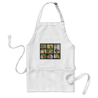 Mosaic photos of ducks adult apron