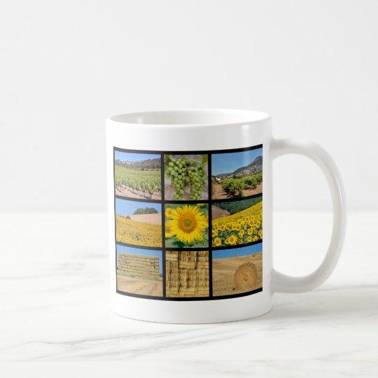 Mosaic photos of  farming coffee mug