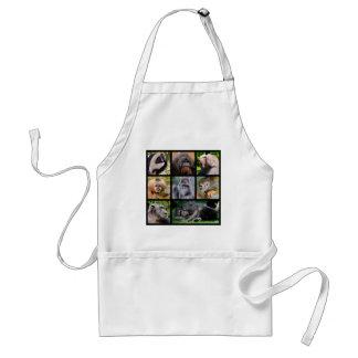 Mosaic photos of monkeys adult apron