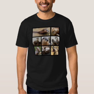 Mosaic photos of otters t-shirt