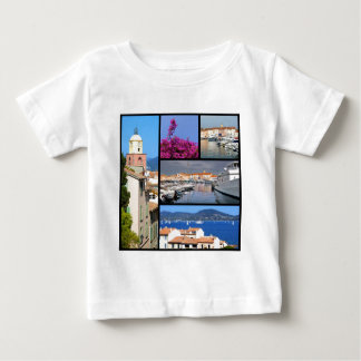 Mosaic photos of Saint Tropez in France Baby T-Shirt