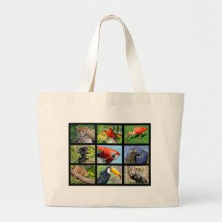 mosaic photos South American animals Large Tote Bag