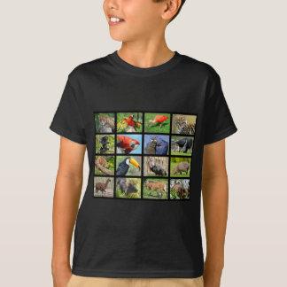 mosaic photos South American animals T-Shirt