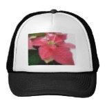 Mosaic Pink Poinsettia 2 Trucker Hats