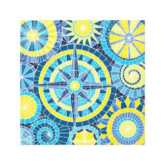 Mosaic Pinwheel Canvas Print