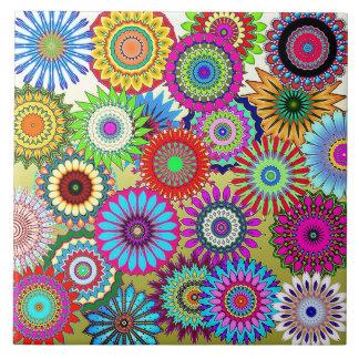 Mosaic Pinwheels Ceramic Tile