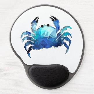 Mosaic Polygon Blue Crab Gel Mouse Pad