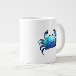 Mosaic Polygon Blue Crab Extra Large Mugs