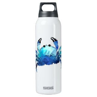 Mosaic Polygon Blue Crab Thermos Bottle