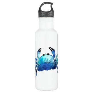 Mosaic Polygon Blue Crab Water Bottle