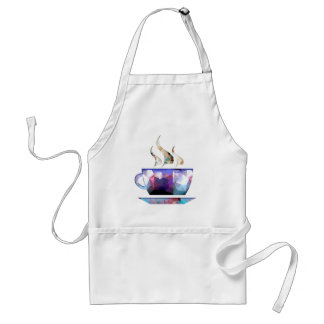 Mosaic Polygon Colorful Cup of Cocoa or Coffee Adult Apron