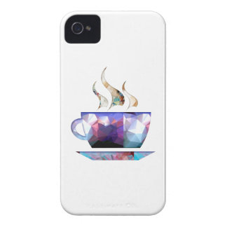 Mosaic Polygon Colorful Cup of Cocoa or Coffee iPhone 4 Case-Mate Cases