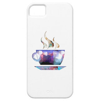 Mosaic Polygon Colorful Cup of Cocoa or Coffee iPhone 5 Covers