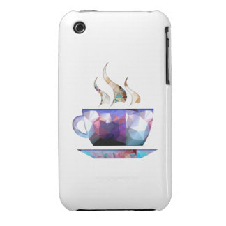 Mosaic Polygon Colorful Cup of Cocoa or Coffee iPhone 3 Case-Mate Cases