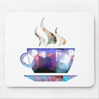 Mosaic Polygon Colorful Cup of Cocoa or Coffee Mouse Pad