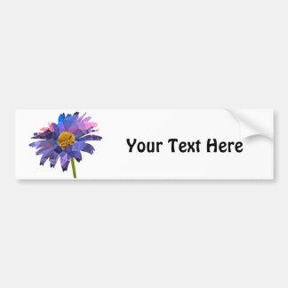 Mosaic Polygon Daisy Pink & Blue Car Bumper Sticker